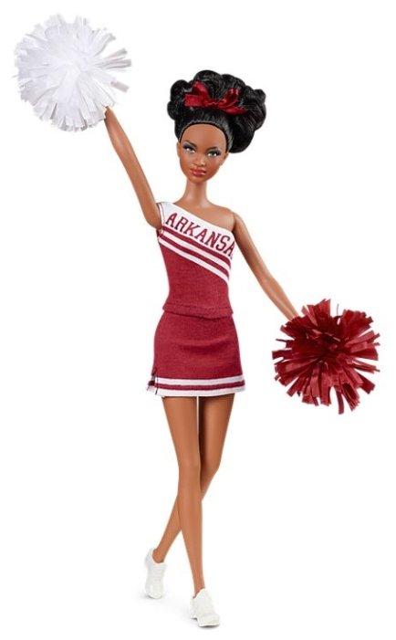 Кукла Barbie Черлидеры Университета Арканзас Афроамериканка, 29 см, Y2360