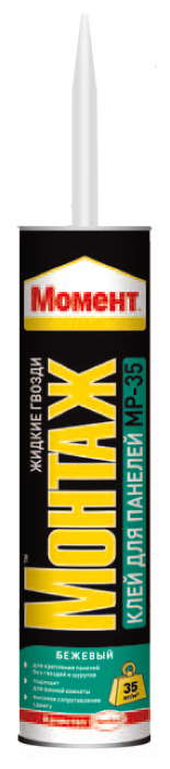Монтажный клей Момент Монтаж Для панелей МР-35 (400 г)