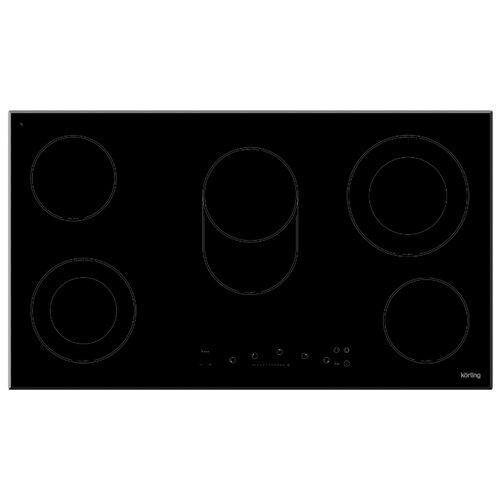 Электрическая варочная панель Korting HK 93551 B варочная панель электрическая korting hk 60001 b черный