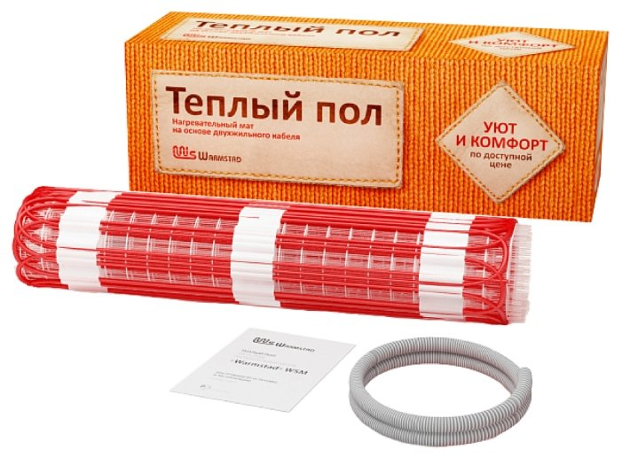 Электрический теплый пол Warmstad WSM-100-0.65 0.65м2 1.3м 100Вт