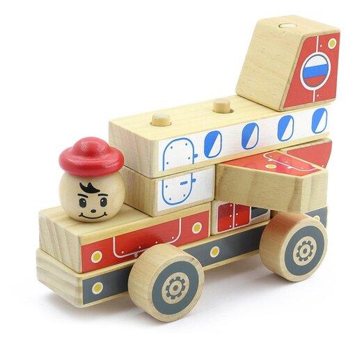 Купить Пирамидка Мир деревянных игрушек Автомобиль-конструктор 4, Пирамидки