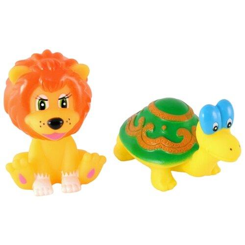 Купить Набор для ванной Играем вместе Львенок и черепаха (127R) желтый/зеленый/оранжевый, Игрушки для ванной
