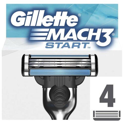 Сменные кассеты Gillette Mach3 Start, 4 шт. gillette mach3 set i