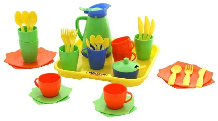 """Набор посуды Полесье """"Алиса"""" с подносом на 4 персоны 40640 фото 1"""