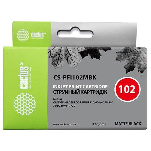 Фото - Картридж cactus CS-PFI102MBK, совместимый картридж cactus cs pfi102mbk для canon ipf500 ipf600 ipf700 mfp m40 ipf765 lp17 lp24 черный матовый