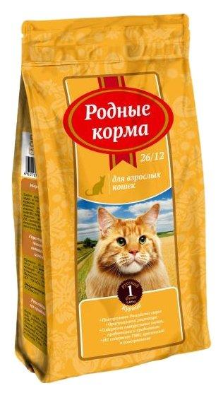 для кошек Родные корма Сухой корм для взрослых кошек с курицей