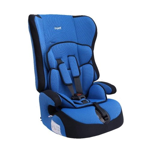 Автокресло группа 1/2/3 (9-36 кг) Siger Прайм, синий автокресло группа 1 2 3 9 36 кг little car ally с перфорацией черный