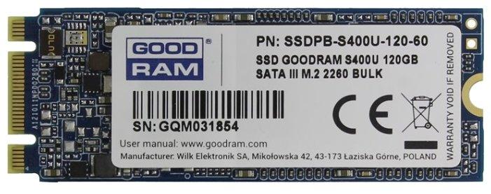 Твердотельный накопитель GoodRAM SSDPB-S400U-120-60