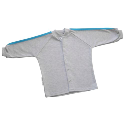 Купить Олимпийка lucky child размер 24, серый/синий/футер, Джемперы и толстовки