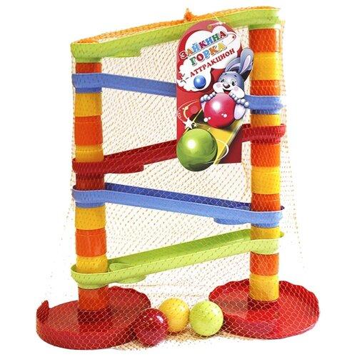 Купить Развивающая игрушка Биплант Зайкина горка Аттракцион №1 красный/желтый/зеленый, Развитие мелкой моторики