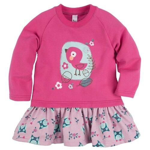 Купить Платье Bossa Nova размер 26, Малиновый/розовый (набивка совы), Платья и юбки