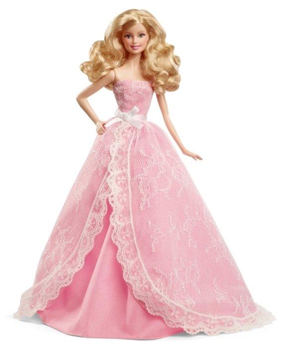 Кукла Barbie Пожелания ко дню рождения 2015 Блондинка, 29 см, CFG03