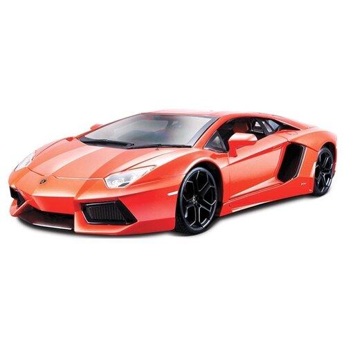 Купить Легковой автомобиль Bburago Lamborghini Aventador LP700-4 (18-11041/18-11033) 1:18 24 см оранжевый, Машинки и техника