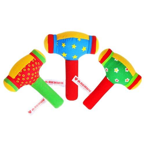 Купить Погремушка Мякиши Молоточек 370 красный/синий/зеленый, Погремушки и прорезыватели