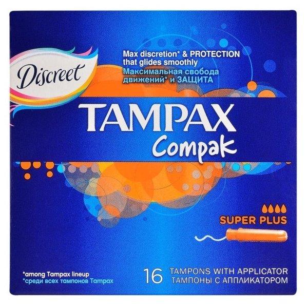 Тампоны Compak Super Plus, 16 шт Tampax
