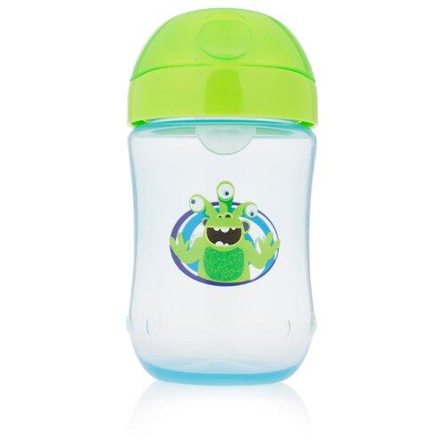Купить Поильник-непроливайка Dr. Brown's Soft-Spout Toddler Cup TC91003/TC91004, 270 мл голубой с салатовой крышкой, Поильники