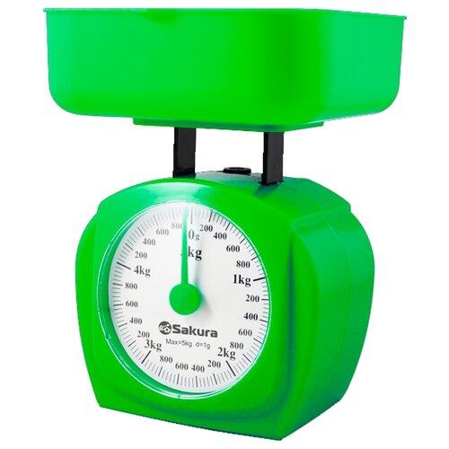 Кухонные весы Sakura SA-6017 зеленый