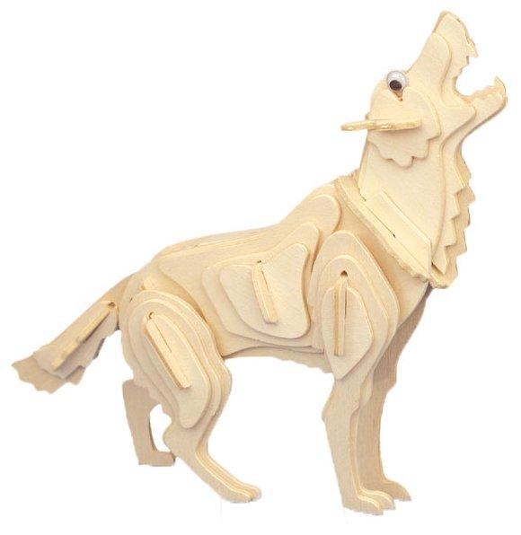 Сборная модель Мир деревянных игрушек Волк (М024),,
