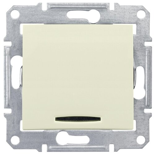 Выключатель 1-полюсныйвыключатель / переключатель Schneider Electric SEDNA SDN1400147,10А, бежевыйРозетки, выключатели и рамки<br>