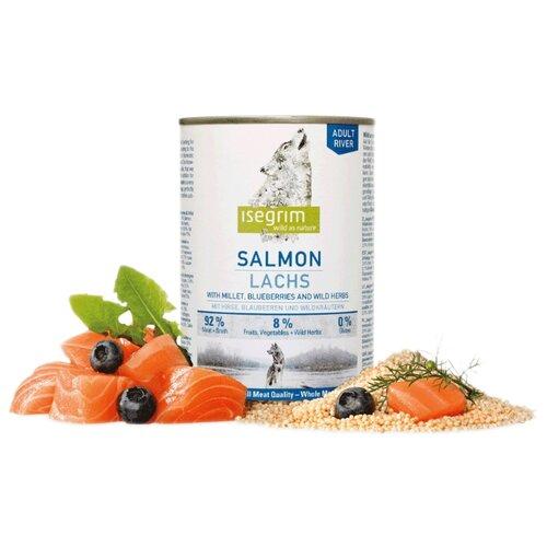 Корм для собак Isegrim (0.4 кг) 1 шт. Консервы River Salmon