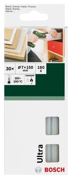 BOSCH Клеевые стержни Ultra Power 7х150 мм, 30 шт
