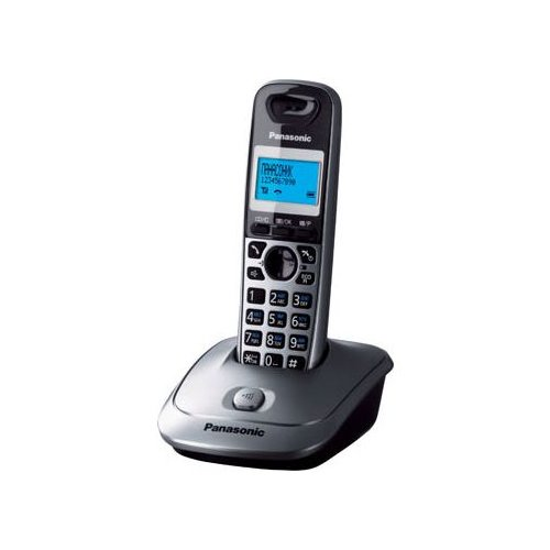 Радиотелефон Panasonic KX-TG2511 серый металлик радиотелефон