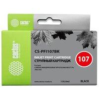 Картридж для Canon ImagePrograf iPF670, iPF680, iPF685, iPF770, iPF780, iPF785 (Cactus CS-PFI107BK) (черный) (130мл) - Картридж для принтера, МФУ
