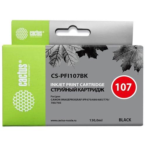 Фото - Картридж cactus CS-PFI107BK, совместимый картридж cactus cs tn1075