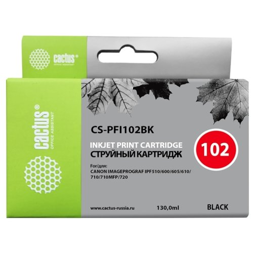 Фото - Картридж cactus CS-PFI102BK, совместимый картридж cactus cs pfi102m совместимый