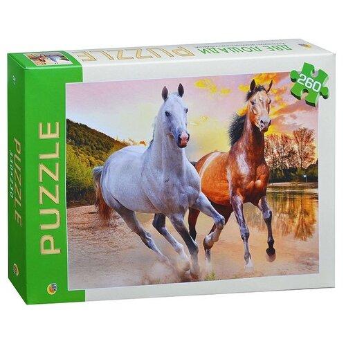 цена на Пазл Рыжий кот Animal Две лошади (П260-1183), 260 дет.