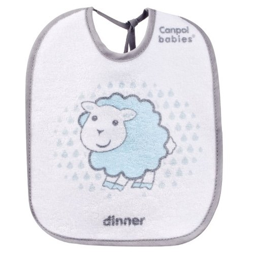 Купить Canpol Babies Набор нагрудников Cotton terry bibs 3 pcs, 3 шт., расцветка: голубой, Нагрудники и слюнявчики