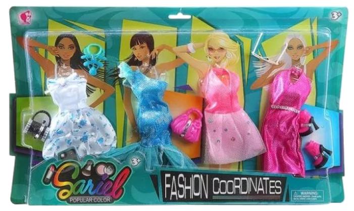 Junfa toys Комплект одежды и аксессуаров для кукол 29 см 3312-B в ассортименте