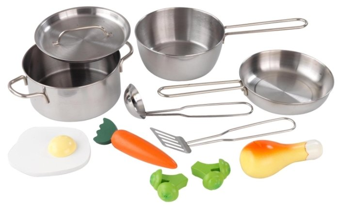 Набор продуктов с посудой KidKraft 11 элементов 63186 фото 1