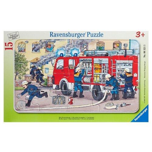 Пазл Ravensburger Пожарная машина (06321), 15 дет. ravensburger водная стихия 3х500