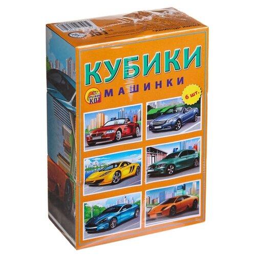 Купить Кубики-пазлы Рыжий кот Машинки К06-8032, Детские кубики