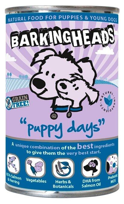 Корм для собак Barking Heads Консервы для щенков с лососем Щенячьи деньки