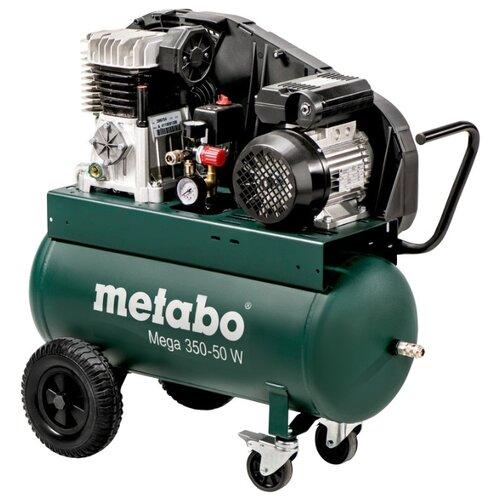 Компрессор масляный Metabo Mega 350-50 W, 50 л, 2.2 кВт компрессор масляный калибр км 2100 50ру 50 л 2 1 квт