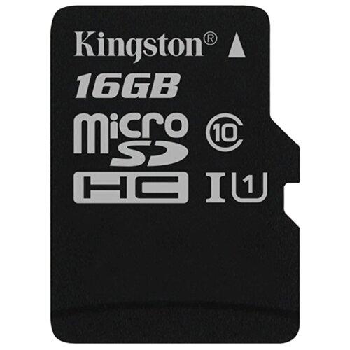 Карта памяти Kingston Canvas Select microSDHC Class 10 UHS-I U1 16GB + SD adapter (SDCS/16GB)