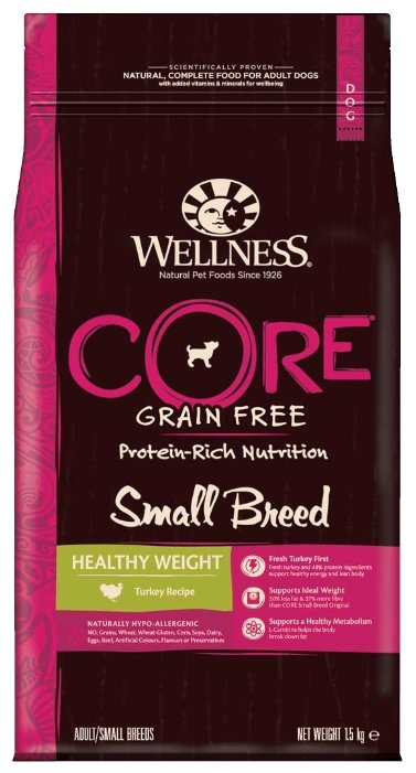 Корм для собак Wellness Dog CORE Small Breed Healthy Weight