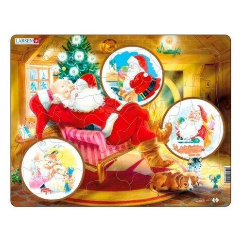 Купить Рамка-вкладыш Larsen Санта Клаус (JUL2), 33 дет., Пазлы
