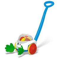Каталка-игрушка Стеллар Ладошки (01381) со звуковыми эффектами белый/голубой/зеленый