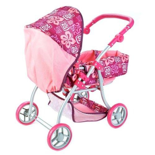 Купить Коляска-люлька Карапуз 66HC-C2 малиново-розовый, Коляски для кукол