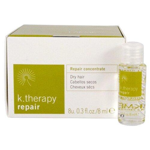 Lakme K-Therapy Repair Средство концентрированное для восстановления сухих волос, 8 мл, 8 шт.