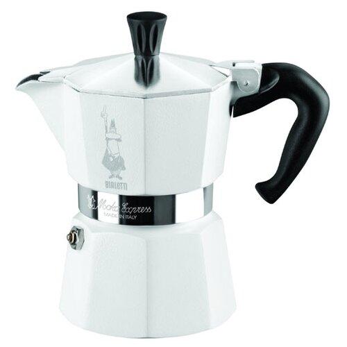 Кофеварка Bialetti Moka Express Color (3 порции) белый
