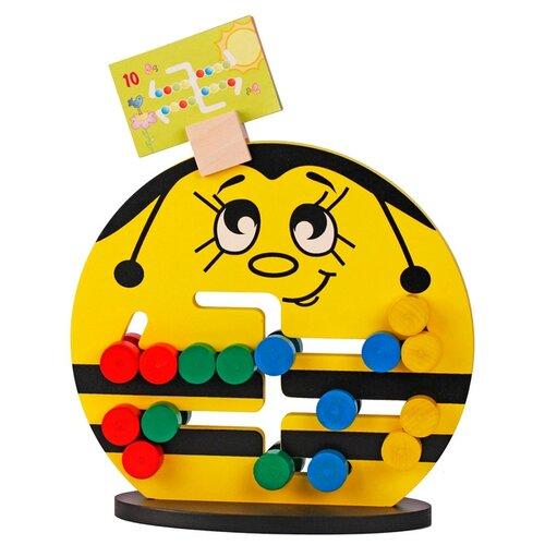 Купить Лабиринт Краснокамская игрушка Пчелка желтый, Развитие мелкой моторики