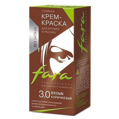 Fara Крем-краска для бровей и ресниц 3.0, коричневый