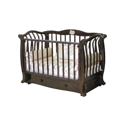 Купить Кроватка Красная Звезда Юлиана С757 (классическая), продольный маятник шоколад, Кроватки