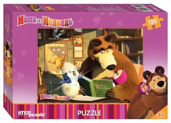 Пазл Step puzzle Анимаккорд Маша и Медведь (75112) в ассортименте, 120 дет.