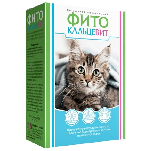 Добавка в корм Фито Кальцевит для кошек 250 г