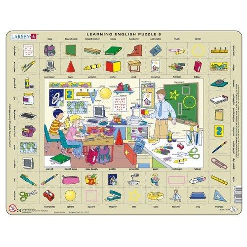 Рамка-вкладыш Larsen Изучаем английский 6 (EN6), 70 дет., Пазлы  - купить со скидкой